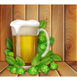 beer and hop vector image