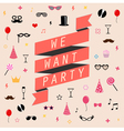 party background templates vector image vector image