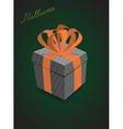 Halloween gifts black background vector image