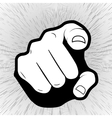Pointing finger or hand pointing icon isolated on vector image