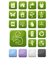 Ecology and environment buttons set vector image vector image
