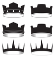 black tiara vector image