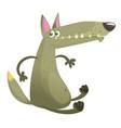 cartoon wolf character vector image