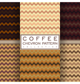 coffee chevron seamless pattern collection vector image