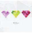 Diamonds Polygonal geometric symbols vector image