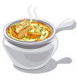 french onion soup vector image