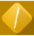 icon of Pen with a long shadow vector image