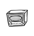 retro radio doodle vector image