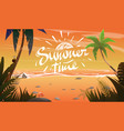 summertime on ocean coast vector image