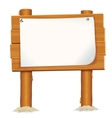 Wooden Billboard Sign with Paper Sheet vector image
