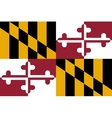 Flag of Maryland correct proportions and colors vector image