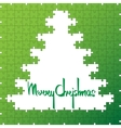 Christmas tree and decorations background vector image vector image
