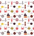 marine cartoon seamless pattern sea theme vector image vector image
