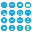 airport black icon blue vector image