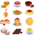 food different vector image vector image