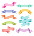 ribbons set color vector image