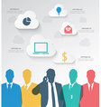 Colorful silhouette businessman team vector image