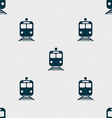 train icon sign Seamless pattern with geometric vector image