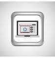laptop web icon vector image