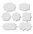 blank sticker template over white background vector image