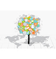 Business concept Tree with cloud of application vector image