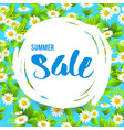 floral big summer sale vector image