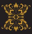 golden pattern on black background vector image