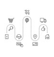 icons set of delivery goods around the world for vector image