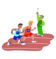 men running in race vector image