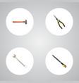 realistic spanner handle hit sharpener vector image
