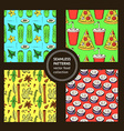 Sketch food pattern in vintage style vector image