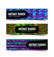 Three abstract banner vector image