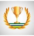 trophy olympic games emblem vector image