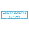 Armed Forces Europe Rubber Stamp vector image