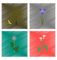 assembly flat shading style floral vector image