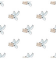 post pigeonmail and postman pattern icon in vector image