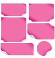 Isolated Pink Paper Sheets Pack vector image