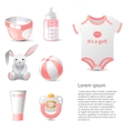 baby shower icons set vector image vector image