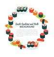 Flat Style Circle Template Collection of Food vector image
