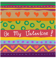 hand drawn valentine card vector image vector image