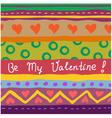 hand drawn valentine card vector image