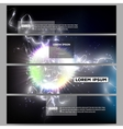 Set of modern banners Electric lighting effect vector image