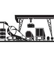 Railway cargo station vector image