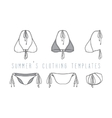 Clothing set Swimwear vector image