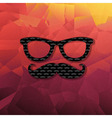 Abstract Triangle Background With Hipster vector image