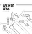 Live News vector image