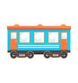 railway passenger car wagon railway vector image