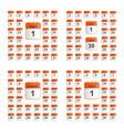 universal set of wall calendar vector image