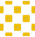 yellow square sewing button pattern flat vector image
