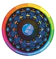 Earth and Zodiac Signs Mandala vector image vector image